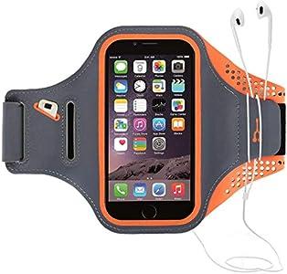 """Haissky Brazalete Deportivo para Correr Brazalete Deportivo Armband con Llavero y Correa Ajustable para iPhone 11 Pro Max/11 Pro X/8 Plus y Otros teléfonos Inteligentes de Menos de 6.5"""""""