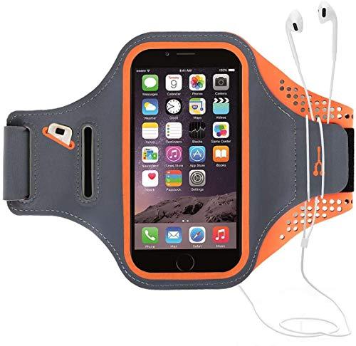HAISSKY Brazalete Deportivo para Correr Brazalete Deportivo Armband con Llavero y Correa Ajustable para iPhone 12 Pro Max/11 Pro/X/8 Plus y Otros teléfonos Inteligentes de Menos de 6.5'