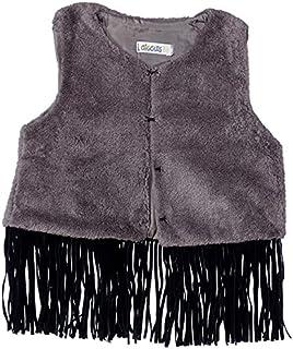 Giggles Tassel Detail Hem Hook Clasp Vest for Girls