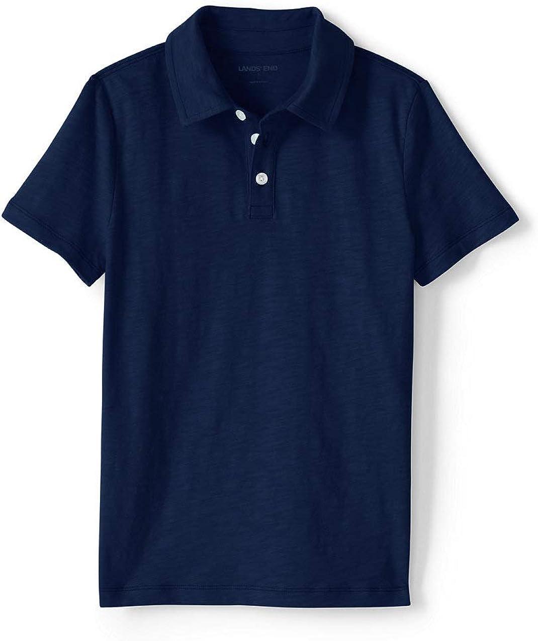 Lands' End Little Boys Solid Slub Polo Shirt