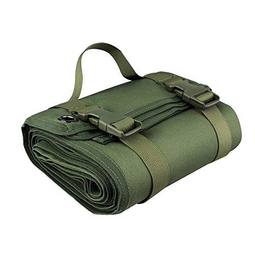 Tir Tactique Tapis, Déroule de Tir Tactique Tapis Durable Antidérapantes Non Rembourré pour Formation Chasse Camping (Vert)