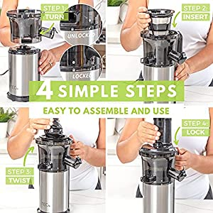 TEC Slow Masticating Juicer Machines Vegetable and Fruit Small Cold Press Juicer