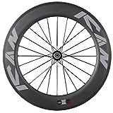 ICAN 86mm Carbon Triathlons/Road Bike Wheel Rear Clincher Tubeless Ready Rim
