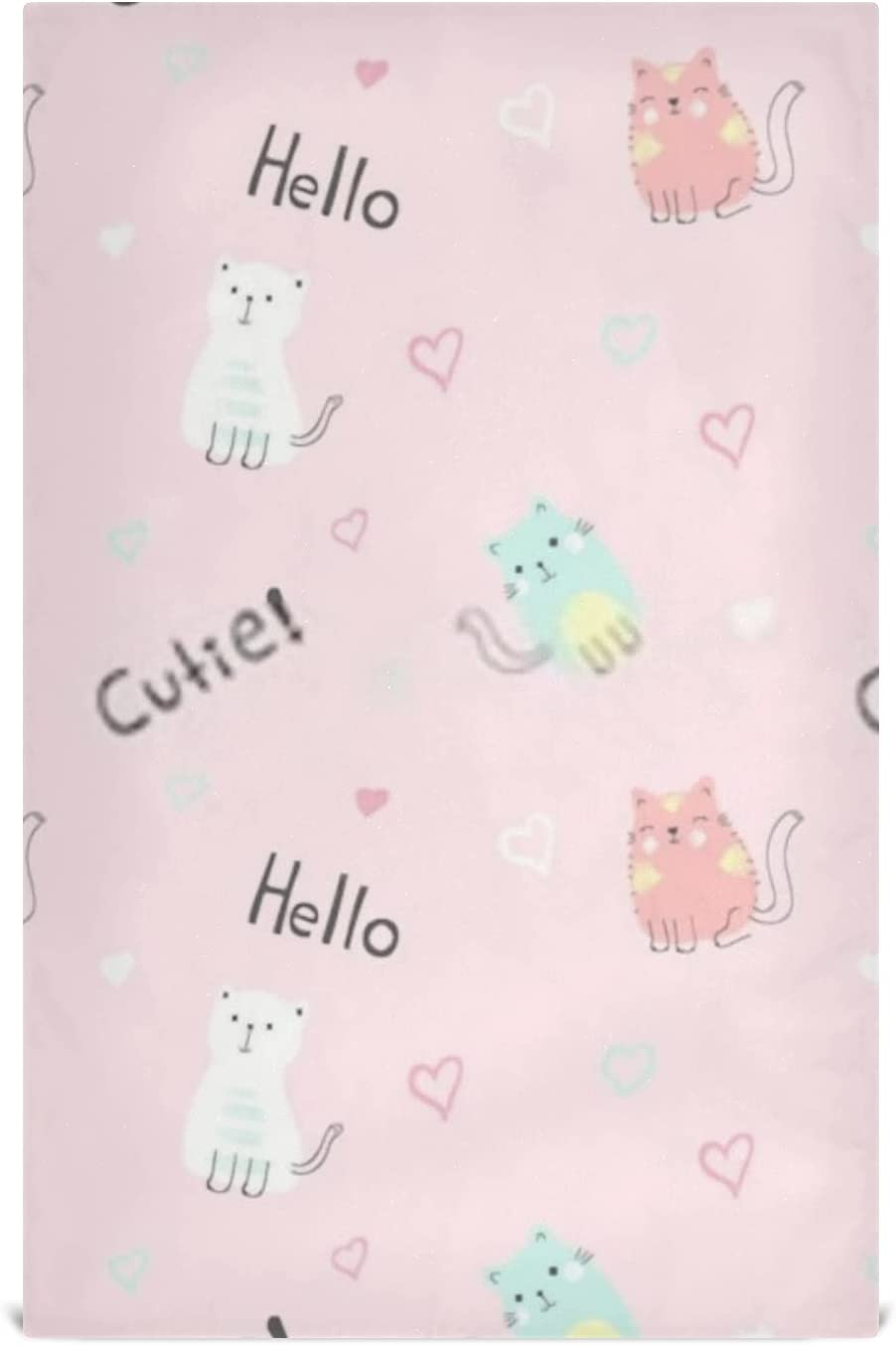 Kitchen Seattle Mall Dish Towel Set Popular brand in the world 6 Large28''x18'' Cute Cats