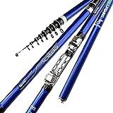 AYGANG Caña Casting La Fibra de Carbono 3.6M 4.5M 5.4M 6.3M Spinning caña de Pescar telescópica M Power Roca caña de Pescar alimentador Carpa Rod de la Resaca de Giro Rod caña Pesca (Length : 6.3 m)
