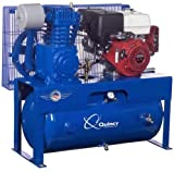 Quincy QT-7.5 Splash Lubricated Reciprocating Air Compressor - 13 HP, Honda Gas Engine, 30-Gallon Horizontal, Model Number G213H30HCB