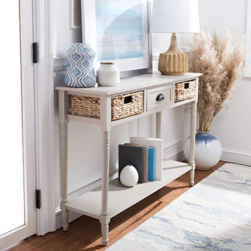 Safavieh Home Collection Christa Vintage Grey 3-Drawer Storage Console Table