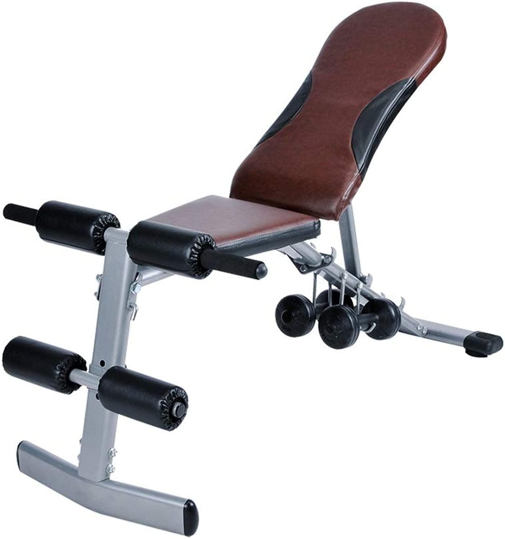 ウェイトトレーニングベンチ ウェイトベンチ、折りたたみダンベルベンチシットアップボード折りたたみ椅子ホーム多機能トレーニングフィットネス機器 ベンチプレス