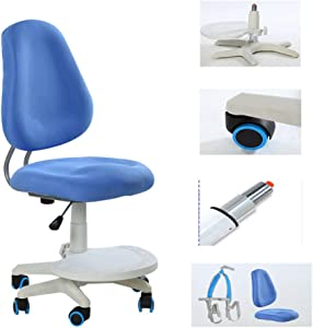 Furniture of Home Children's Study Chair, Adjustable Lift Children's Desk Swivel Chair, Ergonomic Chair, Student Computer Desk and Chair, Suitable for Students Sitting Posture Correction Chair ZDDAB