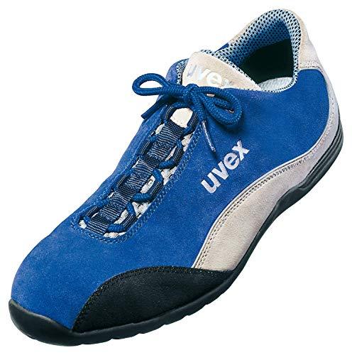 Uvex Motorsport Arbeitsschuhe - Sicherheitsschuhe S1 SRA - Blau-Weiß, Größe:48