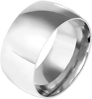خواتم الفولاذ المقاوم للصدأ للرجال خاتم الزفاف بارد بسيط الفرقة 11 مم العرض
