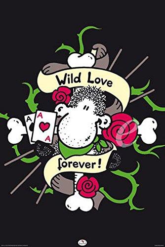 Sheepworld Poster Wild Love + accessoires pas de cadre