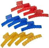 Fripac-Medis - Pinza para el pelo larga (12 unidades), varios colores