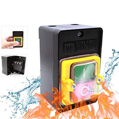 2Pcs AC220V / 380V 10A EIN/AUS Drucktastenschalter, Sicherheitsschalter Wasserdichter Starkstrom In Mechanischen Textilmaschinen Verwendet