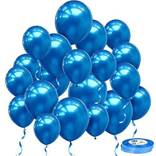 iZoeL 100Stk Blau Luftballons Latex Ballons 30cm Helium Hochzeitsballons Geburtstag Hochzeit Jubiläum Party Deko