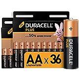 Duracell Plus AA, Pilas Alcalinas, paquete de 36, 1.5 Voltios LR06 MX1500