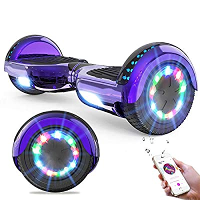 GeekMe Hoverboard Segway for kids 6.5 Inch Electric Scooter Board with Bluetooth - Speaker - Beautiful LED Lights Gift for kids and teenager and adults