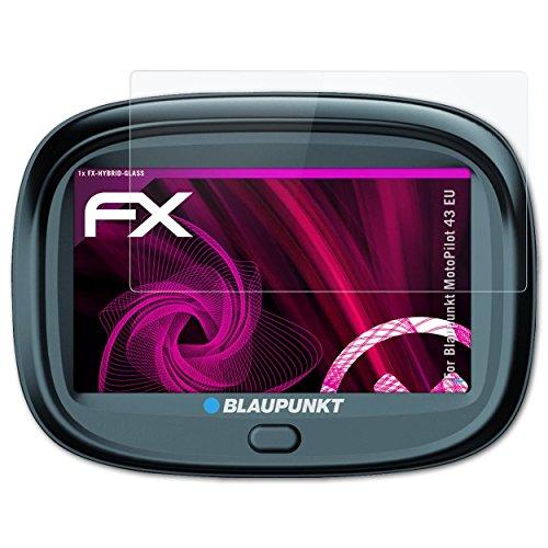 atFoliX Glasfolie kompatibel mit Blaupunkt MotoPilot 43 EU Panzerfolie, 9H Hybrid-Glass FX Schutzpanzer Folie