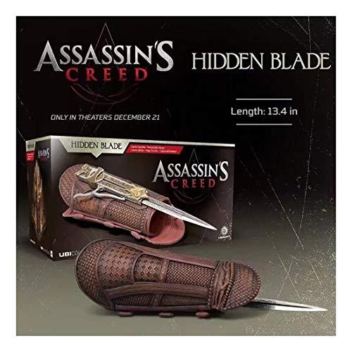 Puppe Assassins Creed 7. Generation Cosplay 1: 1 versteckte Blatt-Hülsen-Schwert Auswerfbare Handgelenk Waffe Play-Position Modell
