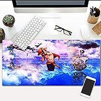 大ゲーミングマウスパッドワンピースアニメノンスリップラバーベースゲームキーボードマット拡張マウスパッドコンピュータPc 23.6X11.8インチ