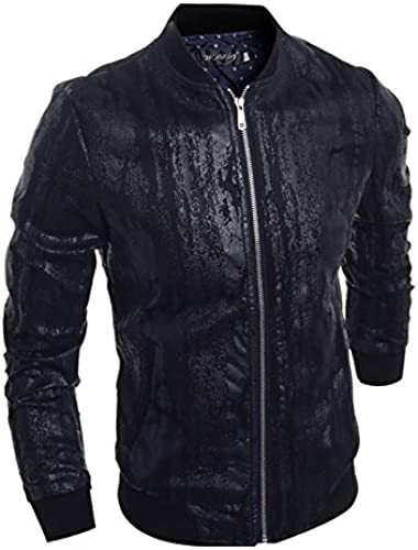 Les Hommes la Petite Veste, Loisirs Veste, noir Fashion Manteau,noir,XL