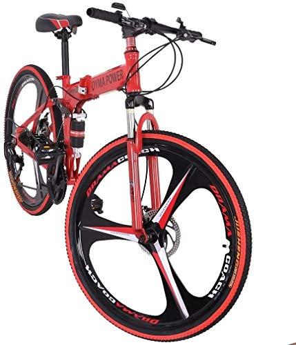 26 inch Folding Mountain Bike 21 Speed Outdoor Bicycle Full Suspension MTB Bikes