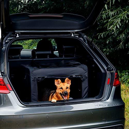 dibea Hundetransportbox Hundetasche Hundebox faltbare Kleintiertasche Größe (L) 70x52x50 cm Farbe Schwarz