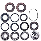 East Lake Axle Rear differential bearing & seal kit compatible with Honda TRX 300 FW 1988 1989 1990 1991-2001