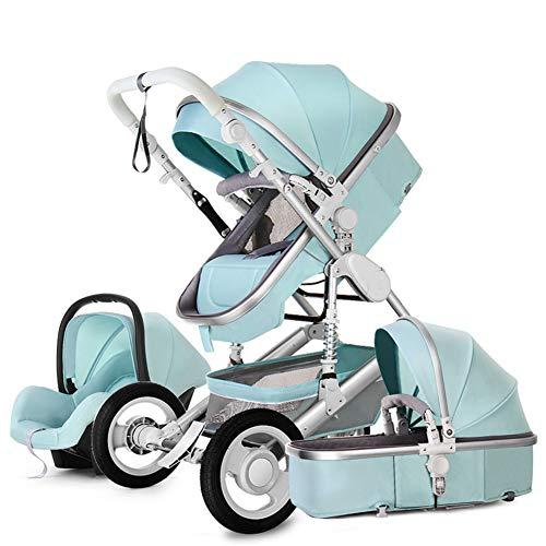 LYzpf Leichter Baby Kinderwagen Stilvolle Babyartikel Kombikinderwagen Babyausstattung Buggy Faltbar Babyzubehör Babyprodukte Kompakt Zubehör,Blue