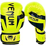 Venum Elite - Guantes de Boxeo Unisex para niño, neón y Amarillo, FR: M (Talla del Fabricante: Mediana)