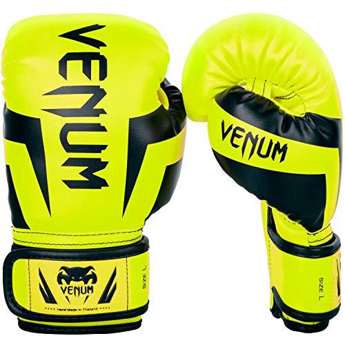 Venum Elite Boxhandschuhe, Unisex, Kinder, Neon/Gelb, FR: M (Größe Hersteller: Medium)