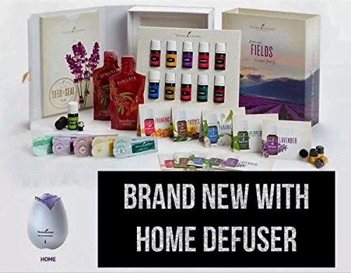 Young Living Premium Starter kit with Dewdrop Home Rainstone Aria Diffuser Essential Oils Collection NingXia Red 11 5ml Oils (Dewdrop Diffuser)