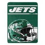 Northwest NFL New York Jets 46x60 Micro Raschel Run Design RolledBlanket, Team Colors, One Size (1NFL059050015RET)