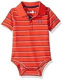 Under Armour Baby-Boys Newborn Yarn Dye Polo Bodysuit, Risk Red, 6-9 Months