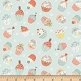 Studio E Fabrics 0659639 Woodland Tea Time Tossed Cupcakes