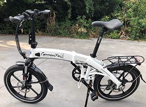 xGerman eFaltrad 20' eTurbo ELEGANT 8 velocidades Shimano LCD, 250W HR/10,4Ah, hasta 85 km, según StVZO