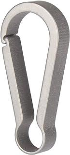 TISUR Accessories Key Clip - Titanium Keychain Carabiner,Quick Release Titanium Spring Snap, Super Lightweight