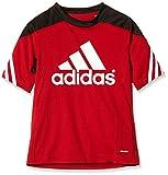 adidas Sereno 14 Training Jersey Camiseta, Niños, Rojo/Negro/Blanco, 152