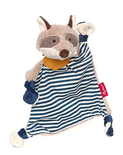 Sigikid Mädchen und Jungen, Schnuffeltuch Waschbär blau, Babyspielzeug, empfohlen ab 0 Monaten, blau/grau, 39195