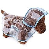 Un cappuccio e una striscia riflettente sul retro assicurano che tu possa vedere il tuo animale domestico di notte o quando piove. Il tessuto esterno impermeabile al 100% mantiene il tuo animale domestico sicuro e asciutto in tutte le condizioni atmo...