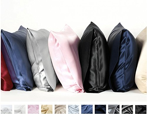 Silkmood Seiden Kissenbezug Seidenkissenbezug Seidenkissenhülleaus 100% Seide, Fadenzahl 600 (22 Momme), 40x60cm, Hellbraun