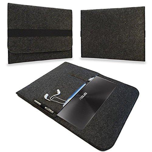 UC-Express Tasche Notebook 13,3 Zoll Hülle Schutzhülle Ultrabook Filz Case Cover Sleeve Bag, Farben:Dunkles Grau, Notebook:Blaupunkt Endeavour 1013