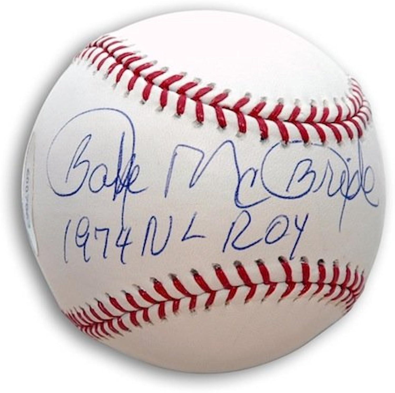 Autographed Bake McBride Baseball Inscribed 1974 NL ROY