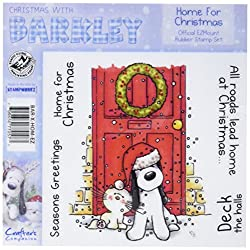 Barkley EZMount Christmas Cling Stamp Set, 4.75 by 4.75-Inch, Home for Christmas