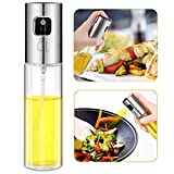 Olive Oil Sprayer Dispenser for Cooking, Food-Grade Glass Oil Spray Transparent Vinegar Bo...