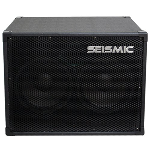 Seismic Audio - 210 Bass Guitar Speaker Cabinet with Horn and Volume Control PA DJ 200 Watts 2x10 PRO AUDIO