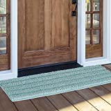 NICETOWN Pet Mat for Floor, Shower Rug Slip-Resistant Extra Absorbent Soft and Fluffy Thick Bath Mat, Non-Slip Microfiber Shag Floor Mat, Dry Fast Waterproof Kids Tub Mat(Duck Egg Blue, 47 x 24)