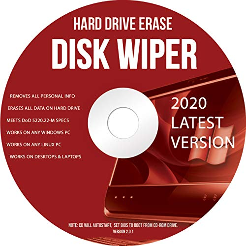 Ralix Hard Drive Disk Wiper 32/64 Bit - Compatible With Windows, Mac, and Linux – Hard Drive Eraser (Latest Version)