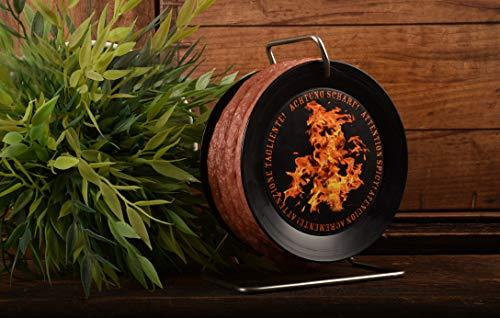 WURSTBARON® - Scharfe Wurst-Kabeltrommel - SCHARFE Snack-Salami auf Mini-Kabeltrommel - 3,5 Meter 240 g