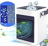 【2021年最新改良版】冷風機 KOXXBASS 冷風扇 卓上冷風機 ミニ冷風扇 扇風機 卓上 小型 USB給電式 氷いれ可能 製氷皿付き 転倒自動OFF 送風 加湿機能 冷却機能 空気清浄機能 350ml 3段階調整 熱中症と暑さ対策